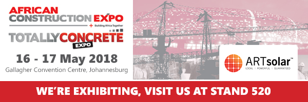 Join ARTsolar at the Totally Concrete Expo 2018
