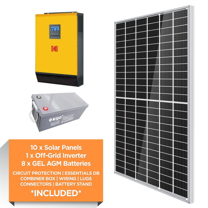 KODAK 5kW – Kijo 19.2kWh AGM – Solar Power Kit