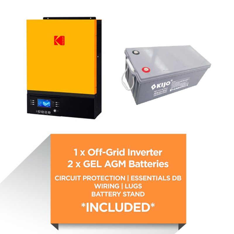 KODAK 3kW – Kijo 4.8kWh AGM – Load Shedding Kit