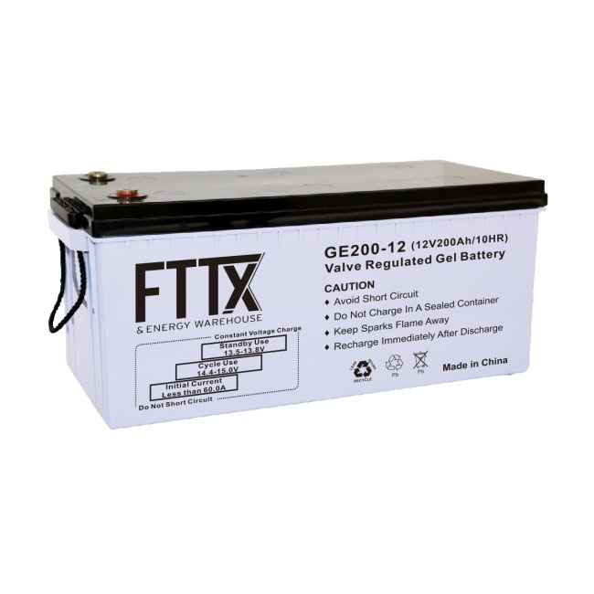 FTTX – 200Ah 12V GEL Deep Cycle Battery