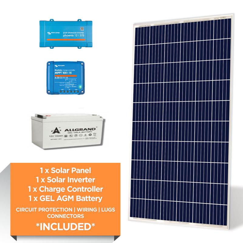 Victron 300W – ALLGRAND 1.2kWh AGM – Solar Power Starter Kit